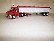 Trucks n Stuff TNS075 HO Peterbilt 579 Day-Cab Tractor w/Grain Trailer - Cerri Feed Company