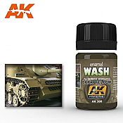 AK Interactive 300 - Enamel Paint - Dark Yellow Wash - 35mL
