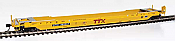 WalthersProto 109032 HO Gunderson Rebuilt All-Purpose 53 Ft Well Car -  Trailer-Train DTTX #471600