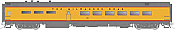 Rapido Trains 124031 HO Scale Pullman-Standard Lightweight Diner Milwaukee Road (Yellow) #121 Pre Order