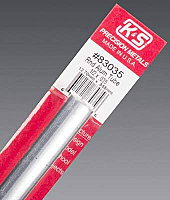 K&S Engineering 83035 All Scale - 1/2 inch OD Round Aluminum Tube - 0.035inch Thick x 12inch Long