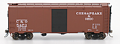 Intermountain 45793-06 HO Scale - 1937 AAR 40Ft Boxcar - C&O - w/ Deco Ends - Original Paint #5487