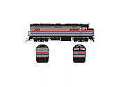 Rapido 083102 HO Scale EMD F40PH Ph2, Standard DC, Amtrak Phase II No.289