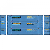 Athearn 26680 HO - RTR 53Ft Jindo Container, WERU (3pkg)