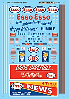 Microscale 87-959 HO Scale - Esso Service Station (1946-1965)-Gas Stations - Waterslide Decal