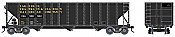 Bowser HO 42165 100-Ton 3-Bay Open Hopper Assembled w/Knuckle Couplers & Metal Wheels - CNA ex LEFC no logo #330340