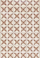 Plastruct 91861 Brown Tile Paper Sheet (2pcs pkg)