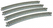 Kato Unitrack 20-130 - N Scale Curved Roadbed Track Section - 30-Degree 13-3/4 inches 348mm Radius (4/pkg)