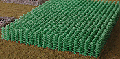 Bluford Shops 201 HO Cornfield Kit - 400 Stalks - 23-11/16 Square Inches 153 Square Centimeters  - Summer Green