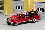 Sylvan Scale Models 326 HO Scale - 1939 Ford/LaFrance Open Cab Pumper - Unpainted and Resin Cast Kit