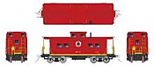 Rapido 144009 - HO Northeastern-style Steel Caboose: LNE - Red Scheme #583