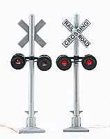 Walthers 4333 HO SceneMaster Crossing Flashers - Set of 2 Working Signals