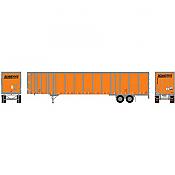 Athearn 72609 HO 53 FT Wabash Plate Trailer, Schneider #F45547