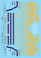 Microscale 87256 HO Scale - Alaska Railroad Diesel - incl Bicentennial (1960-1980) - Waterslide Decal