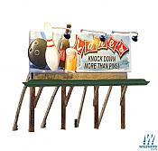 Woodland Scenics 5796 HO Billboard Lanes Bowling & Bar