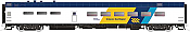 Rapido Trains 124050 HO Scale Pullman-Standard Lightweight Diner Ontario Northland #1409 Pre Order