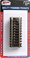 Atlas Model Railroad 522 HO Code 83 Snap Track - 3 Inches Straight - 4 pcs in blister package