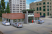 Walthers Cornerstone 4201 - HO Modern Police Station - Kit