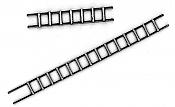 BTS 23015 HO Wood Ladders pkg(4)