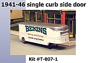 Sylvan Scale Models 007-1 HO Scale - 1941-46 32Ft Fruehauf Bekins Moving Van Resin Cast Kit