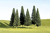 Bachmann SceneScapes 32101 - N Layout-Ready Trees - Pine Trees (9/pkg)