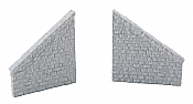 Walthers HO 4586 Cornerstone Railroad Bridge Stone Wing Walls - Resin Casting - One Each Left & Right