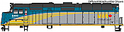 Walthers Mainline 19472 HO Scale - EMD F40PH, ESU Sound and DCC - VIA Rail Canada Renaissance Scheme #6460