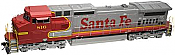 Atlas 10 002 279 HO Dash 8-40CW Locomotive Silver DCC Ready Santa Fe No.844