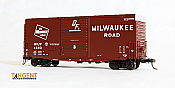 Tangent Scale Models HO 18017-02 - PS-1 40ft Mini-Hy Cube Box Car - Milwaukee Road - Original 1968 DFB #4603