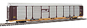 WalthersProto 101334 HO - 89ft Thrall Bi-Level Auto Carrier - Ready To Run - Conrail Rack, TTGX Flatcar #158397