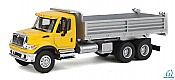 Walthers SceneMaster HO 11663 International (R) 7600 3 Axel Hvy-Dty Dump Truck Yellow Cab/Silver Body