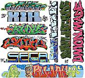 Blair Line 2260 HO Lasercut Graffiti Decals Set #11