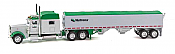 Trucks n Stuff TNS082 HO Peterbilt 389 Sleeper-Cab Tractor w/Grain Trailer -Nutrena