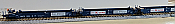 Athearn 98902 HO Maxi I Well Car - 40 Ft- 5 Car Set - Early - K Line/ Rail Bridge #1019