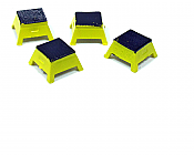Rapido Trains Bits: HO Scale passenger car step boxes - Yellow (pack of 4) 606-102065