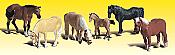 Woodland Scenics 2141 - N Scenic Accent Figures - Farm Horses (6/pkg)