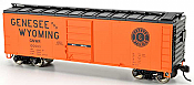 Bowser 42430 HO 40Ft Steel Side Box Car (Blt 6-47) -Ready to Roll- Genesee & Wyoming #100022