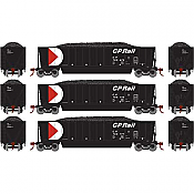 Athearn RTR 29601 - HO Bathtub Gondola w/Load - CP Rail/Black #1 (3)