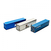 Athearn RTR 27153 HO Scale - 40Ft Hi-Cube Containers APL/MOL/CNC Line 3 Pack