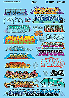 Microscale 871535 HO Scale- Graffiti Decal Set - Contemporary Graffiti Set 3