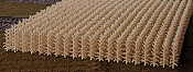 Bluford Shops 202 HO Cornfield Kit - 400 Stalks - 23-11/16 Square Inches 153 Square Centimeters - Autumn Harvest