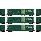 Athearn RTR 67709 - HO 50ft Evans Double-Door Plug Boxcar - BCOL (3pk)