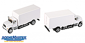 Walthers 11290 HO SceneMaster International(R) 4900 Single-Axle Box Van - Assembled - White Cab & Box