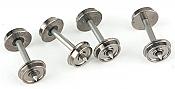 WalthersProto 2304 HO - 33inch Turned Metal Wheelsets - w/ Metal Axles pkg(100)