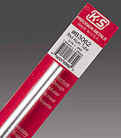K&S Engineering 83062 All Scale - 5/16 inch OD Round Aluminum Tube - 0.049inch Thick x 12inch Long