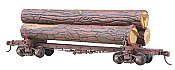 Kadee 102 HO Skeleton Log Car w/Load - Kit