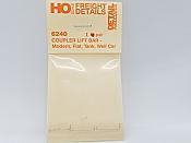 Detail Associates 6240 HO Scale - Coupler Lift Bar - Modern Freight Car - 1Pair