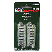 "Kato Unitrack 20-030 N Scale Straight Track 2-1/2"" 64mm 2PCS S64"