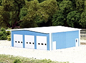 Pikestuff 8009 - N Scale Fire Station (Scale: 50 x 40ft) - Blue