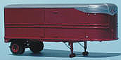 Sylvan Scale Models 006 HO Scale - 26Ft Areovan Trailer with Side Doors - Unpainted and Resin Cast Kit